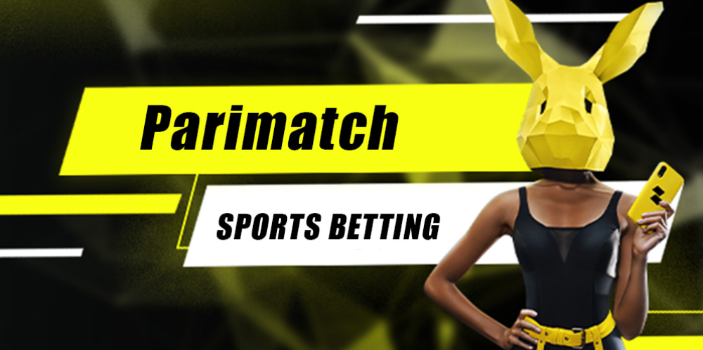 PariMatch sports betting, girl in a bunny mask