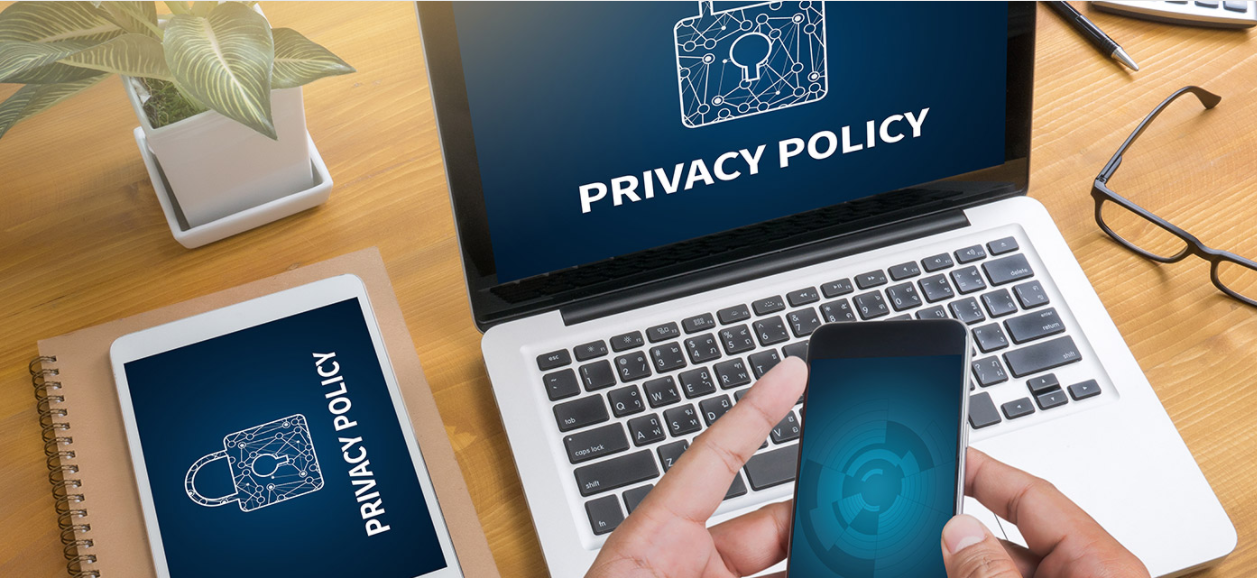 laptop, smartphone, privacy policy